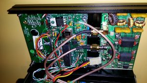 The whole lid with DDS display, DDS board and amplifier board