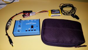 """The MTR 2 with 500mAh LiPo battery and earphones all fit in a 2.5"""" hard drive protective case!"""